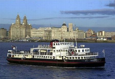 Liver Buildings and Mersey, Liverpool