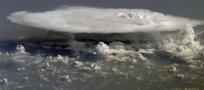 A massive cumulo-nimbus from above...