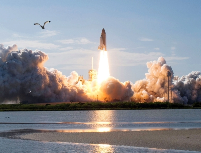 Shuttle lift-off at Cape Kennedy
