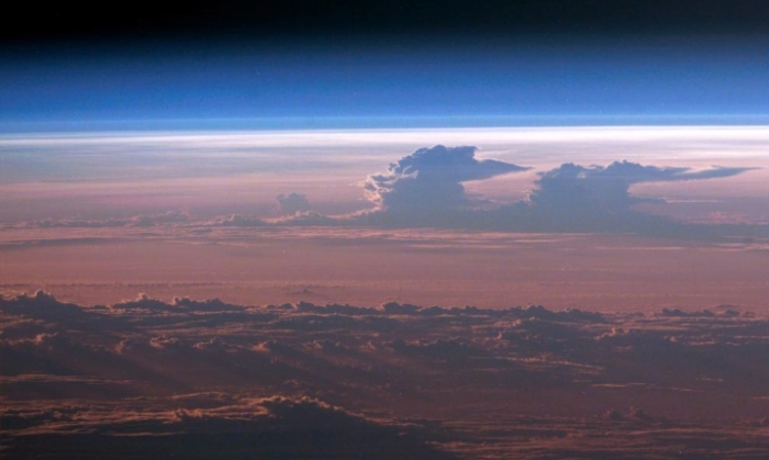 A sunset from space...